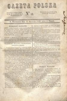 Gazeta Polska. 1830, Nro 13 (15 stycznia)