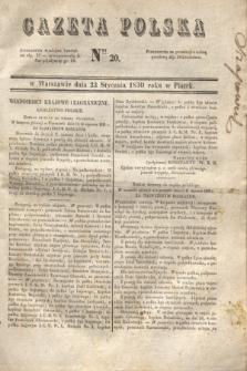 Gazeta Polska. 1830, Nro 20 (22 stycznia)