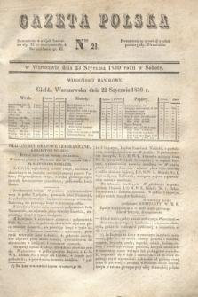 Gazeta Polska. 1830, Nro 21 (23 stycznia)