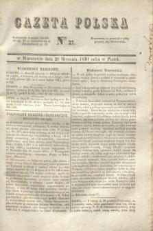 Gazeta Polska. 1830, Nro 27 (29 stycznia) + dod.