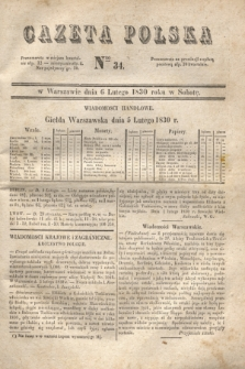 Gazeta Polska. 1830, Nro 34 (6 lutego)