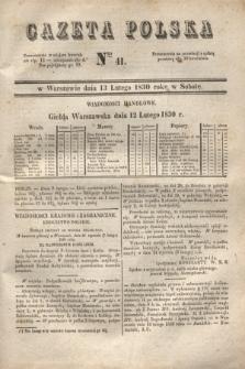 Gazeta Polska. 1830, Nro 41 (13 lutego) + dod.