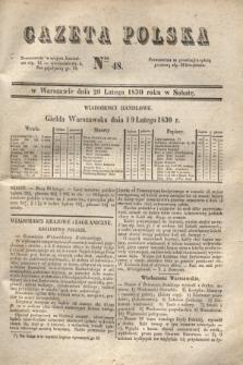 Gazeta Polska. 1830, Nro 48 (20 lutego)