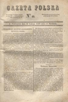 Gazeta Polska. 1830, Nro 49 (21 lutego)