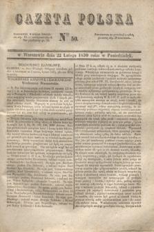 Gazeta Polska. 1830, Nro 50 (22 lutego)