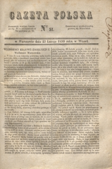 Gazeta Polska. 1830, Nro 51 (23 lutego)