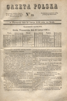 Gazeta Polska. 1830, Nro 52 (24 lutego)