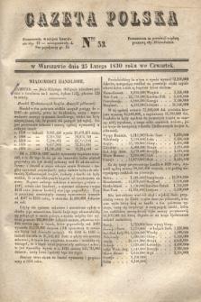 Gazeta Polska. 1830, Nro 53 (25 lutego)