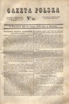Gazeta Polska. 1830, Nro 56 (28 lutego) + dod.