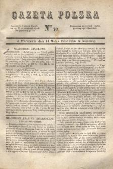 Gazeta Polska. 1830, Nro 70 (14 marca)