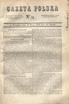 Gazeta Polska. 1830, Nro 72 (16 marca) + dod.