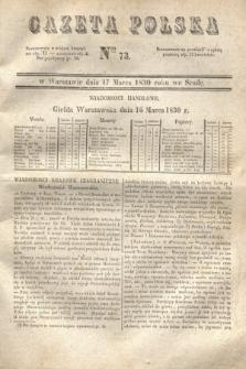 Gazeta Polska. 1830, Nro 73 (17 marca) + dod.