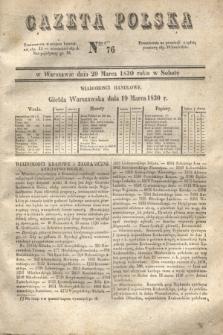 Gazeta Polska. 1830, Nro 76 (20 marca)