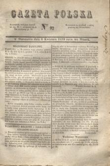 Gazeta Polska. 1830, Nro 92 (6 kwietnia)