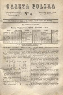 Gazeta Polska. 1830, Nro 93 (7 kwietnia)