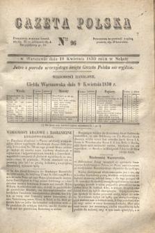 Gazeta Polska. 1830, Nro 96 (10 kwietnia)