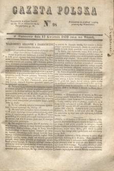 Gazeta Polska. 1830, Nro 98 (13 kwietnia)