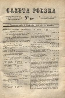 Gazeta Polska. 1830, Nro 110 (25 kwietnia)