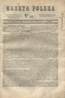Gazeta Polska. 1830, Nro 115 (30 kwietnia)