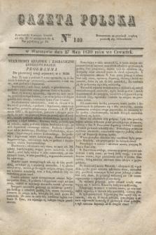 Gazeta Polska. 1830, Nro 140 (27 maja 1830)