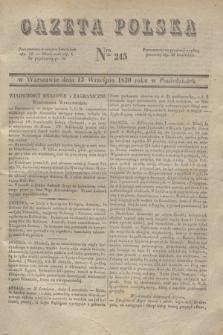 Gazeta Polska. 1830, Nro 245 (13 września)