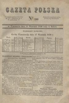 Gazeta Polska. 1830, Nro 250 (18 września)