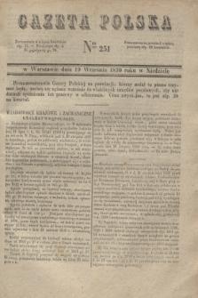 Gazeta Polska. 1830, Nro 251 (19 września)