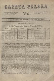 Gazeta Polska. 1830, Nro 254 (22 września)