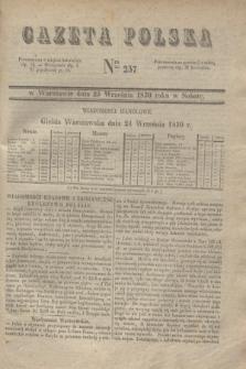 Gazeta Polska. 1830, Nro 257 (25 września)