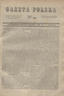 Gazeta Polska. 1830, Nro 258 (26 września)