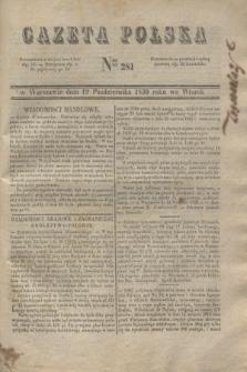 Gazeta Polska. 1830, Nro 281 (19 października)