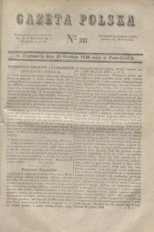 Gazeta Polska. 1830, Nro 337 (20 grudnia)