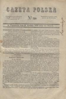 Gazeta Polska. 1830, Nro 338 (21 grudnia)