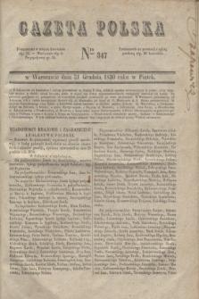 Gazeta Polska. 1830, Nro 347 (31 grudnia)