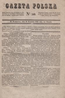 Gazeta Polska. 1831, Nro 249 (20 września)