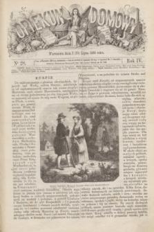 Opiekun Domowy. R.4, nr 28 (15 lipca 1868)