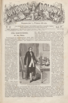 Opiekun Domowy. R.4, nr 37 (16 września 1868)