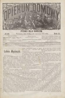 Opiekun Domowy : pismo dla rodzin. R.11, № 23 (10 czerwca 1875)