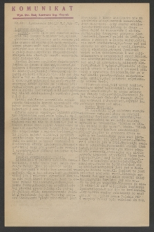 Komunikat : Wyd. Okr. Rady Konwentu Org. Niepodl. 1944, nr 61 (1 sierpnia)