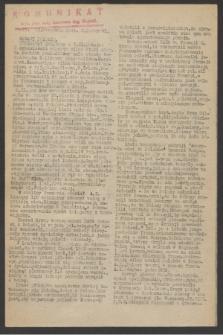 Komunikat : Wyd. Okr. Rady Konwentu Org. Niepodl. 1944, nr 73 (12 września)