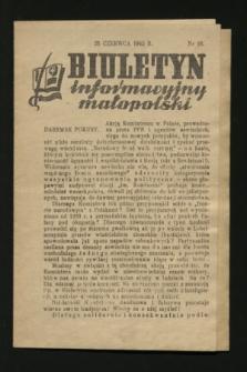 Biuletyn informacyjny małopolski. 1942, nr 16 (25 czerwca)