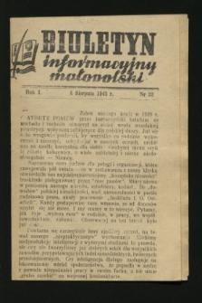 Biuletyn Informacyjny Małopolski. 1942, nr 22 (6 sierpnia)