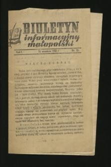 Biuletyn Informacyjny Małopolski. 1942, nr 35 (26 września)