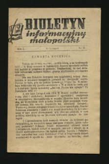 Biuletyn Informacyjny Małopolski. 1942, nr 38 (10 listopada)