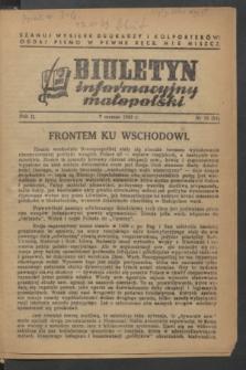 Biuletyn informacyjny małopolski. R.2, nr 10 (7 marca 1943) = nr 54