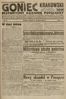 Goniec Krakowski : bezpartyjny dziennik popularny. 1922, nr6