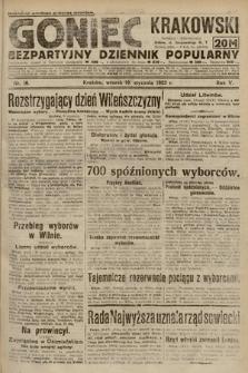 Goniec Krakowski : bezpartyjny dziennik popularny. 1922, nr10
