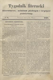 Tygodnik Literacki : literaturze, sztukom pięknym i krytyce poświęcony. [T.1], № 8 (21 maja 1838)