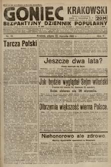 Goniec Krakowski : bezpartyjny dziennik popularny. 1922, nr13
