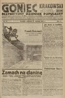 Goniec Krakowski : bezpartyjny dziennik popularny. 1922, nr15